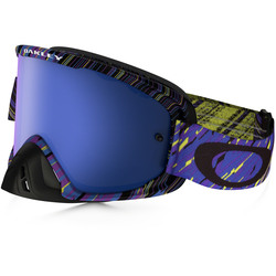 Oakley goggles O2 MX Rain Of Terror Blue Purple Black Ice Iridium & Clear lens